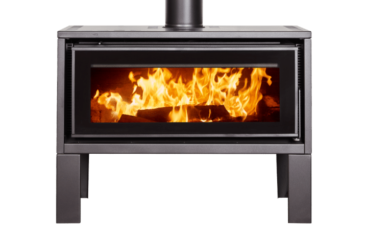 Wood stove with transparent background